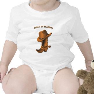 Texan en el entrenamiento trajes de bebé
