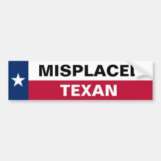 Texan equivocado pegatina de parachoque