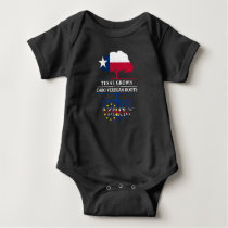 Texan Grown with Cape Verdean Roots Baby Bodysuit