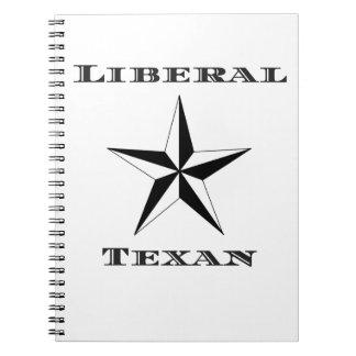 Texan liberal blanco y negro libretas espirales