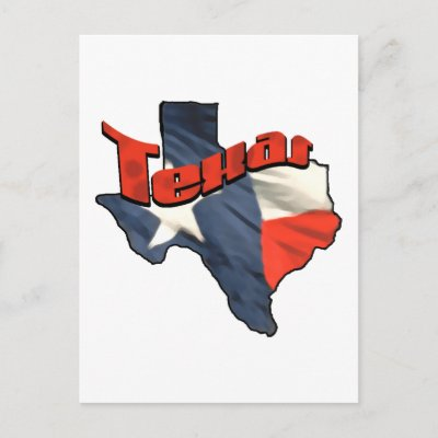 map of texas state. Texan Lone Star State retro flag map of Texas Post Cards by Funkart