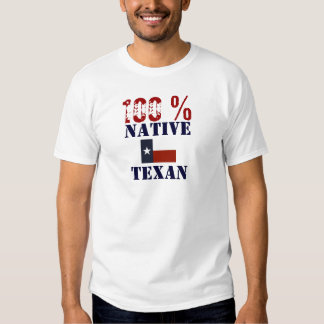Texan nativo del 100% (varón) playera