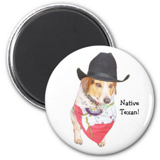 Texan nativo imán de nevera