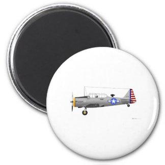 Texan norteamericano de AT-6D Imán Redondo 5 Cm