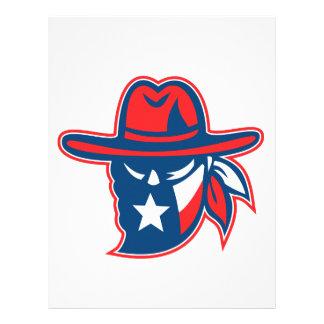 Texan Outlaw Texas Flag Mascot Letterhead