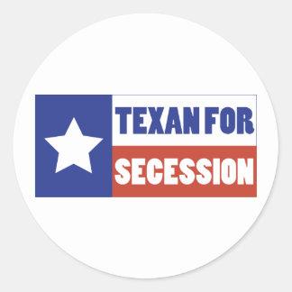 Texan para la secesión pegatina redonda