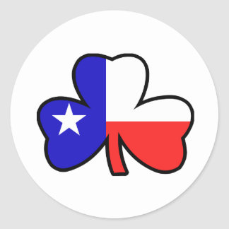 Texan Shamrock Sticker