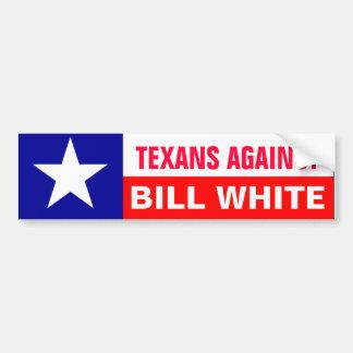 Texans contra el blanco de Bill Pegatina Para Auto