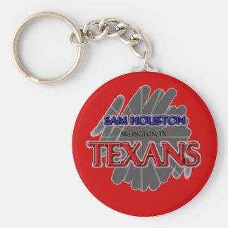 Texans de la High School secundaria de Sam Houston Llavero Redondo Tipo Pin
