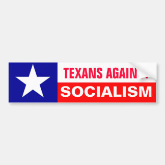 Texans del Anti-Socialismo Pegatina Para Auto