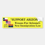 "Texans For Arizona ""Official""  Bumper Sticker"