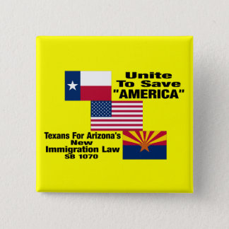 """Texans For Arizona """"Official"""" Square Button Pin"""