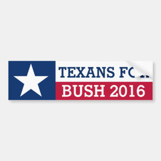 Texans For Jeb Bush 2016 Election Texas Flag Bumper Sticker
