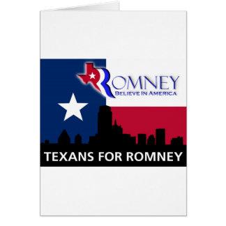 Texans for Mitt Romney Card