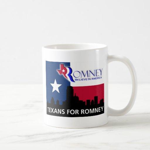 Texans for Mitt Romney Classic White Coffee Mug