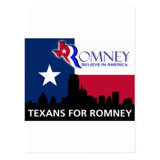 Texans for Mitt Romney Postcard
