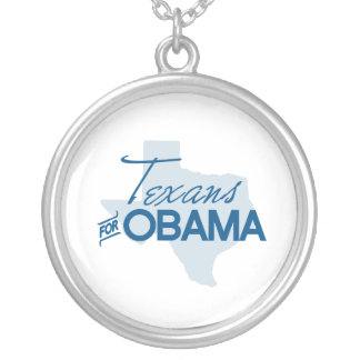Texans for Obama.png Round Pendant Necklace
