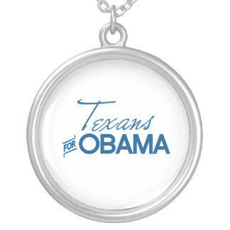 Texans for Obama -.png Round Pendant Necklace