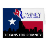Texans for Romney Card