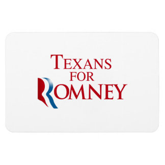 TEXANS FOR ROMNEY.png Rectangular Photo Magnet