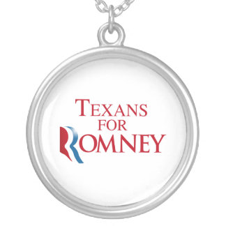 TEXANS FOR ROMNEY.png Round Pendant Necklace