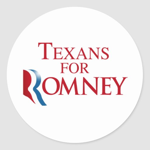 TEXANS FOR ROMNEY.png Stickers