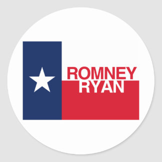 TEXANS FOR ROMNEY RYAN.png Classic Round Sticker