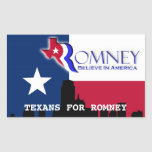 Texans for Romney Stickers