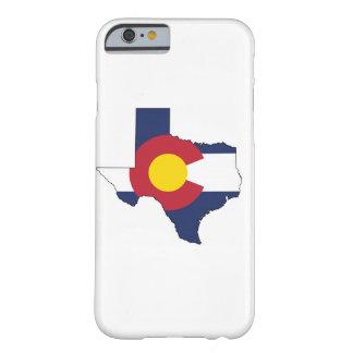 Texarado = Tejas + Caso del iPhone 6 de Colorado Funda De iPhone 6 Barely There