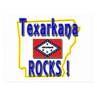 Texarkana Rocks ! (blue) Postcard