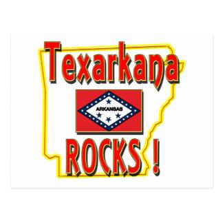 Texarkana Rocks ! (red) Postcard