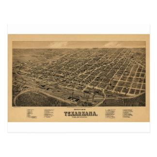 Texarkana Texas / Arkansas in 1888 Postcard