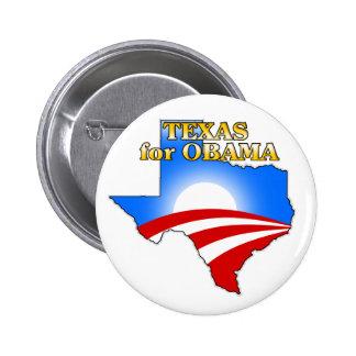 Texas4Obama Pin Redondo De 2 Pulgadas