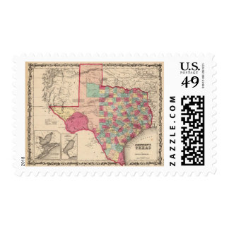Texas 10 stamp