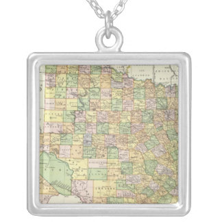 Texas 15 silver plated necklace