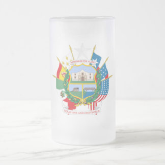 Texas 16 Oz Frosted Glass Beer Mug