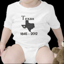 Texas 1845-2012 black.png baby bodysuits