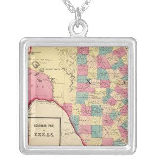 Texas 2 square pendant necklace