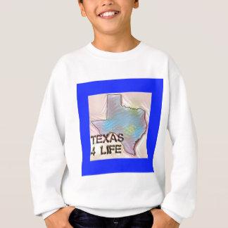 """Texas 4 Life"" State Map Pride Design Sweatshirt"