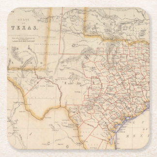 Texas 4 square paper coaster