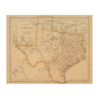 Texas 4 wood wall art