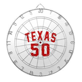 Texas 50 Birthday Designs Dart Board