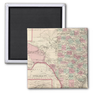 Texas 5 2 inch square magnet