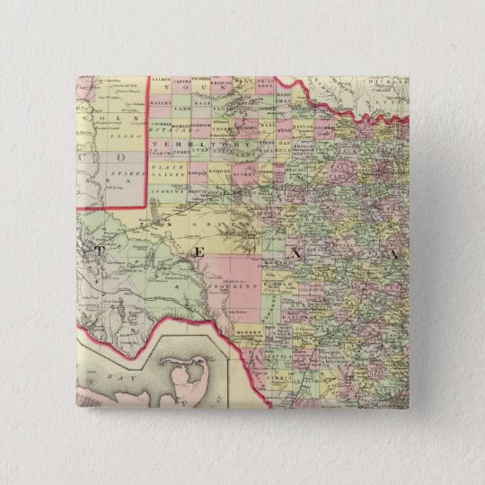Texas 7 pinback button