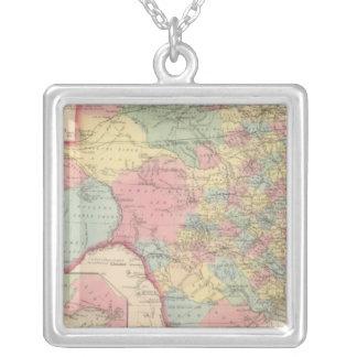 Texas 7 square pendant necklace