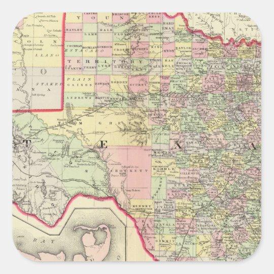 Texas 7 square sticker