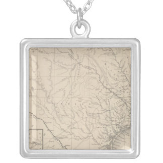 Texas 8 silver plated necklace
