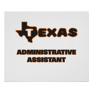 Texas Administrative Assistant Poster