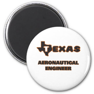 Texas Aeronautical Engineer 2 Inch Round Magnet