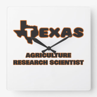 Texas Agriculture Research Scientist Square Wall Clock